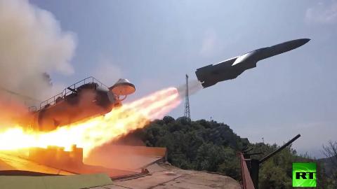 岸防导弹发射超近视角