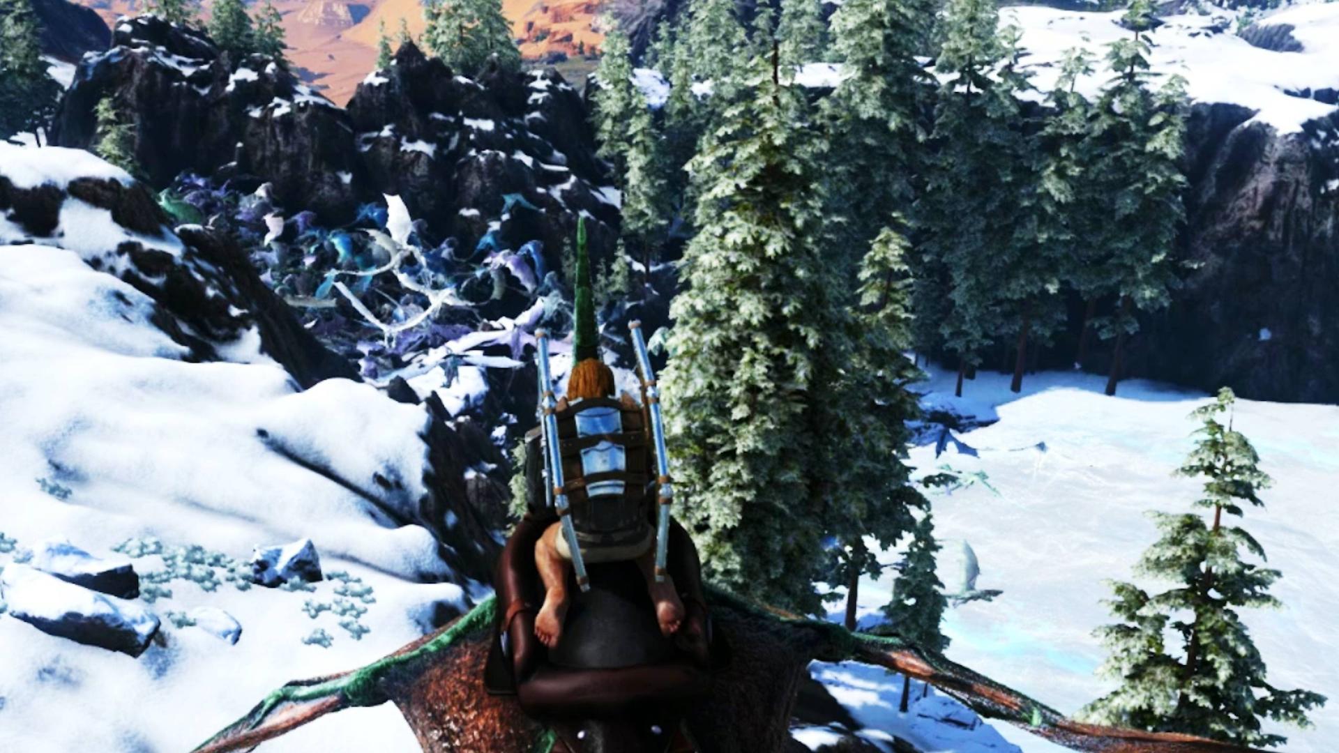 方舟仙境17:我发现了寒冰龙谷,这里有数以万计的飞龙