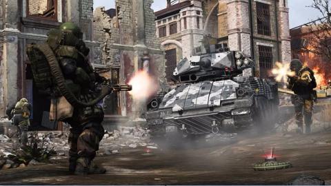 使命召唤16:现代战争 重装无畏战士加特林机枪冲锋精彩试玩