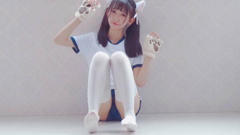 【汐子】16岁的小鹿能否撞入你的心~双马尾体操服ver