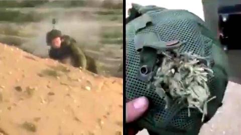 【欧肯视线】狙击手一声叹息!关键时候头盔保了以色列士兵的命