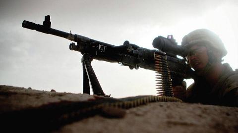 美军M240B机枪手POV