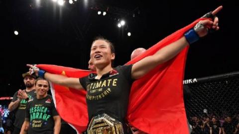 祝贺!张伟丽成中国首位UFC冠军