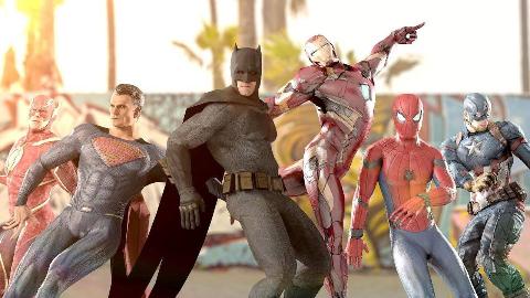 漫威英雄vsDC正义联盟史诗般的舞蹈大PK