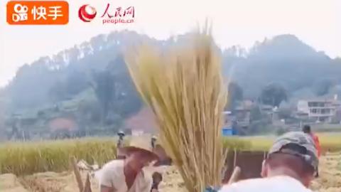 快手联合人民网和农民伯伯一起花式庆丰收啦