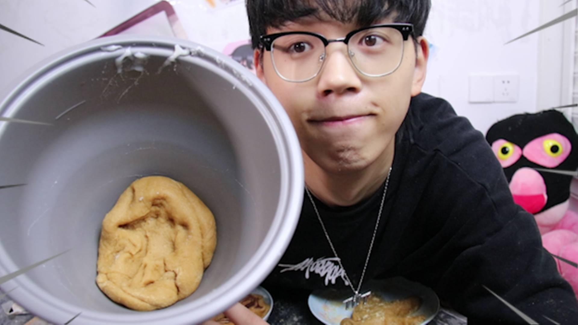 男子用日本年糕机去做北京小吃驴打滚,最后能成功吗