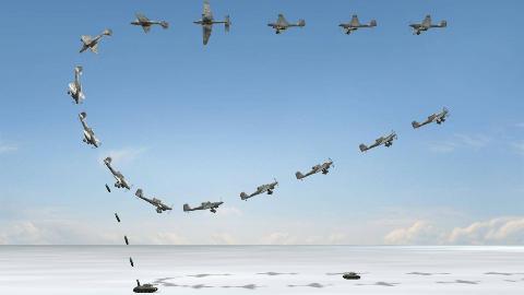 【讲堂437期】二战德国独特战术的斯图卡轰炸机,能发出巨响,绰号死神怒吼