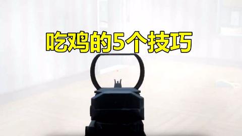 和平精英:手游中的5大技巧,用烟雾弹可以透视敌人 ,无形中杀人
