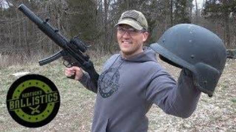 全自动MP5 vs 凯夫拉头盔