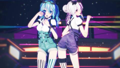 【miku Haku MMD】靛青与藕荷的艳丽极彩