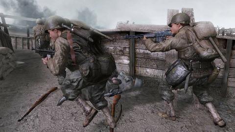 使命召唤2:炮轰铺天盖地而来的敌军装甲部队,这一战太激烈了