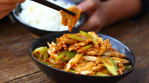 王一刀:美味的家常菜,葱香小炒肉,配米饭吃可香了
