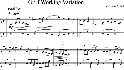我的创作,Op.1 Working Variation (工作变奏曲)