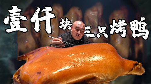 【吃货请闭眼】探店北京3大烤鸭!1000块吃3只烤鸭,全聚德、大董和利群谁更正宗