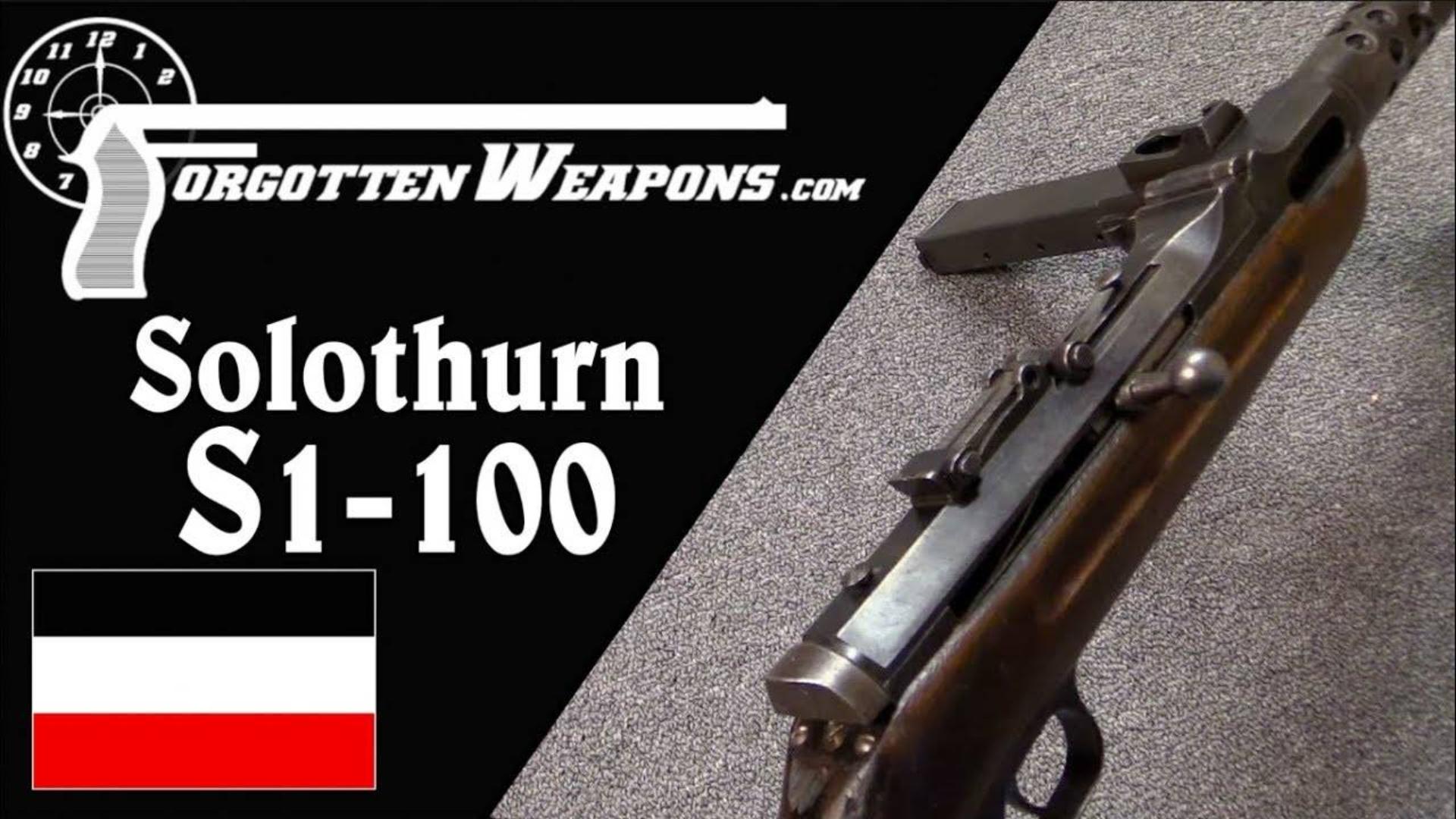 【被遗忘的武器/双语】瑞士来的德国助拳人--索罗通S1-100/MP34介绍