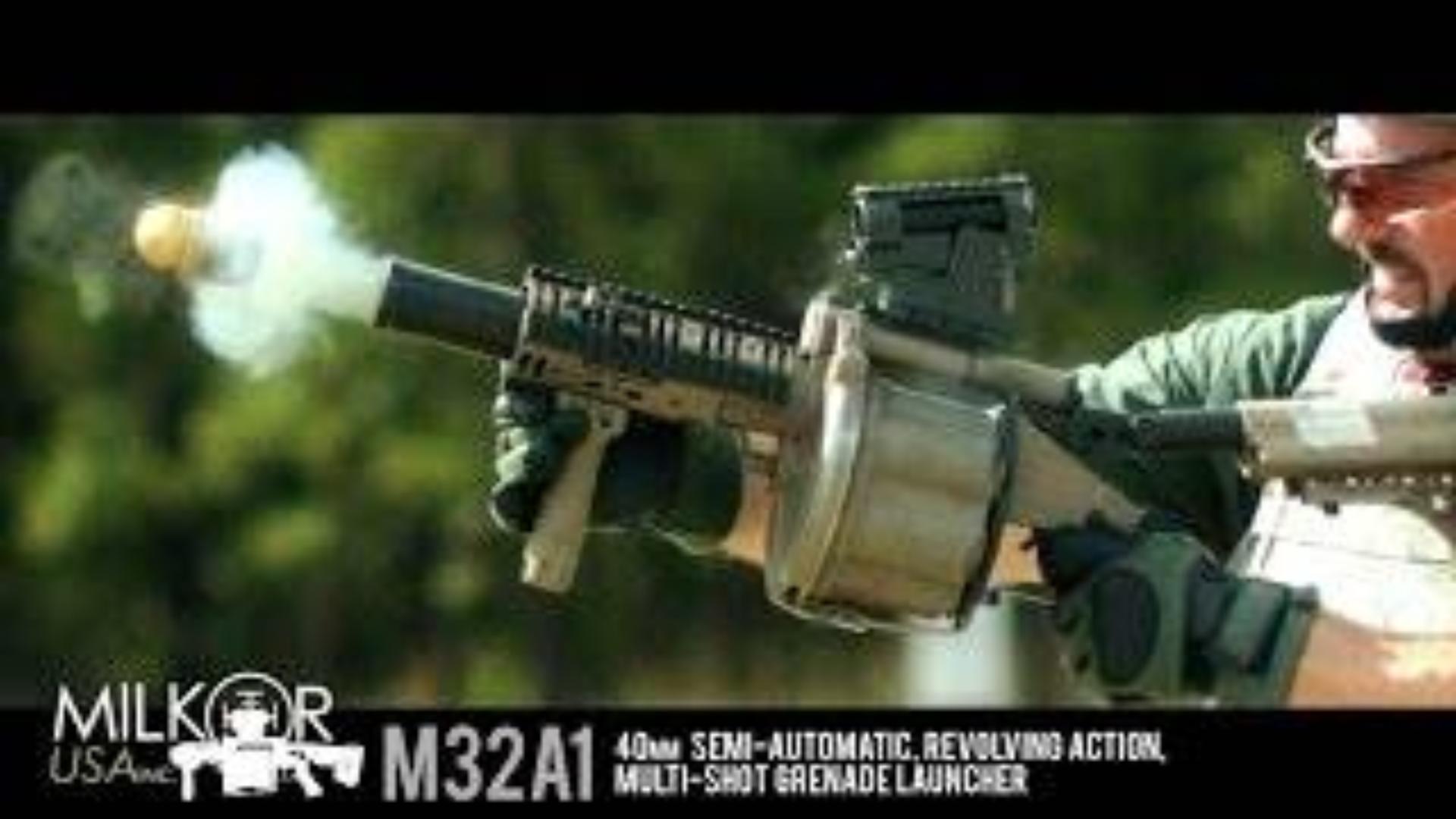 【搬运/已加工字幕】米尔科姆M32A1转轮式榴弹发射器