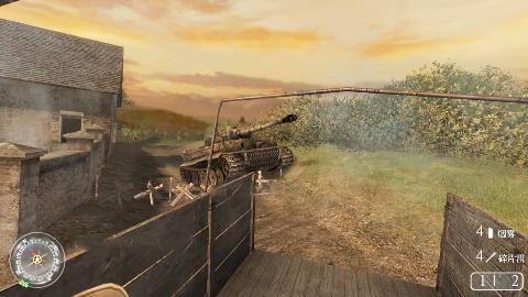 使命召唤2:最玩命的战斗,用火箭筒大战德国虎式坦克,太刺激了