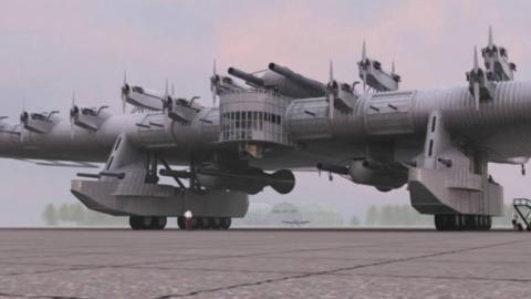 【讲堂486期】绰号空中战列舰,苏联加里宁K-7重型轰炸机,脑洞水平大大超前