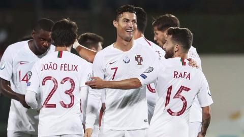 2020年欧洲杯预选赛第6轮 立陶宛vs葡萄牙 全场集锦