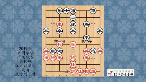 2019年象棋甲级联赛第10轮,刘俊达先负刘子健