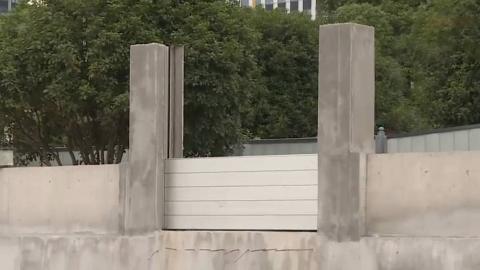 湖南长沙首用装配式防洪墙 比堆沙包快10倍