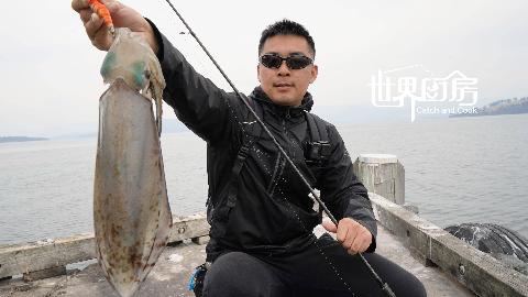 土澳海边钓到很多的新鲜鱿鱼,做成鱿鱼干小零食,好吃又方便