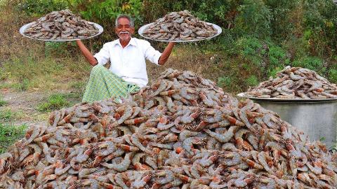 【老爷子厨房】做大虾给孩子们吃