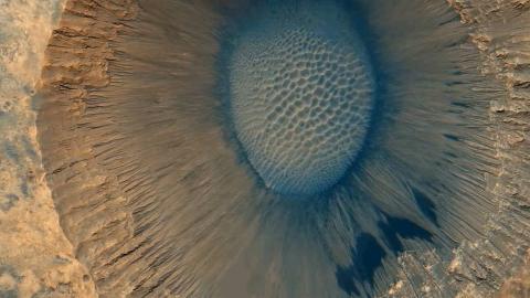 彩色火星-子午线平原陨石坑