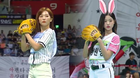 偶像运动会2019 IZ*ONE 张员瑛 VS RED VELVET姜涩琪 投球女皇是谁?