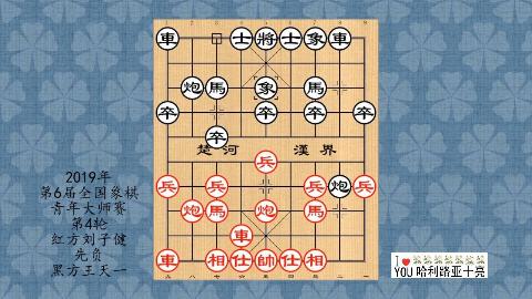 2019年第6届全国象棋青年大师赛第4轮,刘子健先负王天一