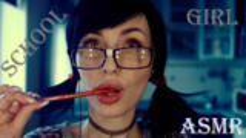 【ASMR/ MyKinkyDope】女学生扮演,吃棒棒糖,耳语,眼镜,摩擦声