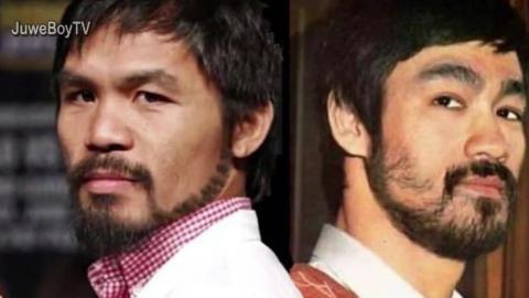 八个级别冠军帕奎奥有多崇拜李小龙?这步法还真像!