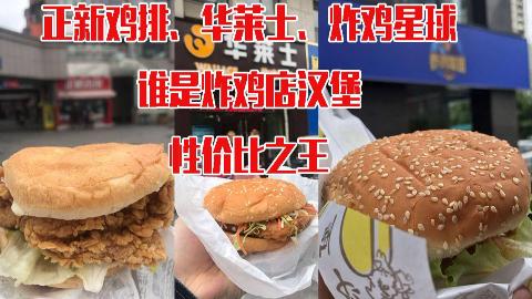 撑死试吃,正新、华莱士、炸鸡星球三家汉堡,谁才是性价比之王