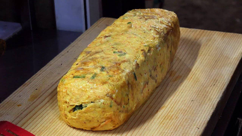 【韩国街头美食】- 30个鸡蛋!韩式砖卷煎蛋卷