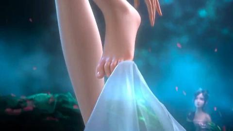 你看这腿,玉脂修长。