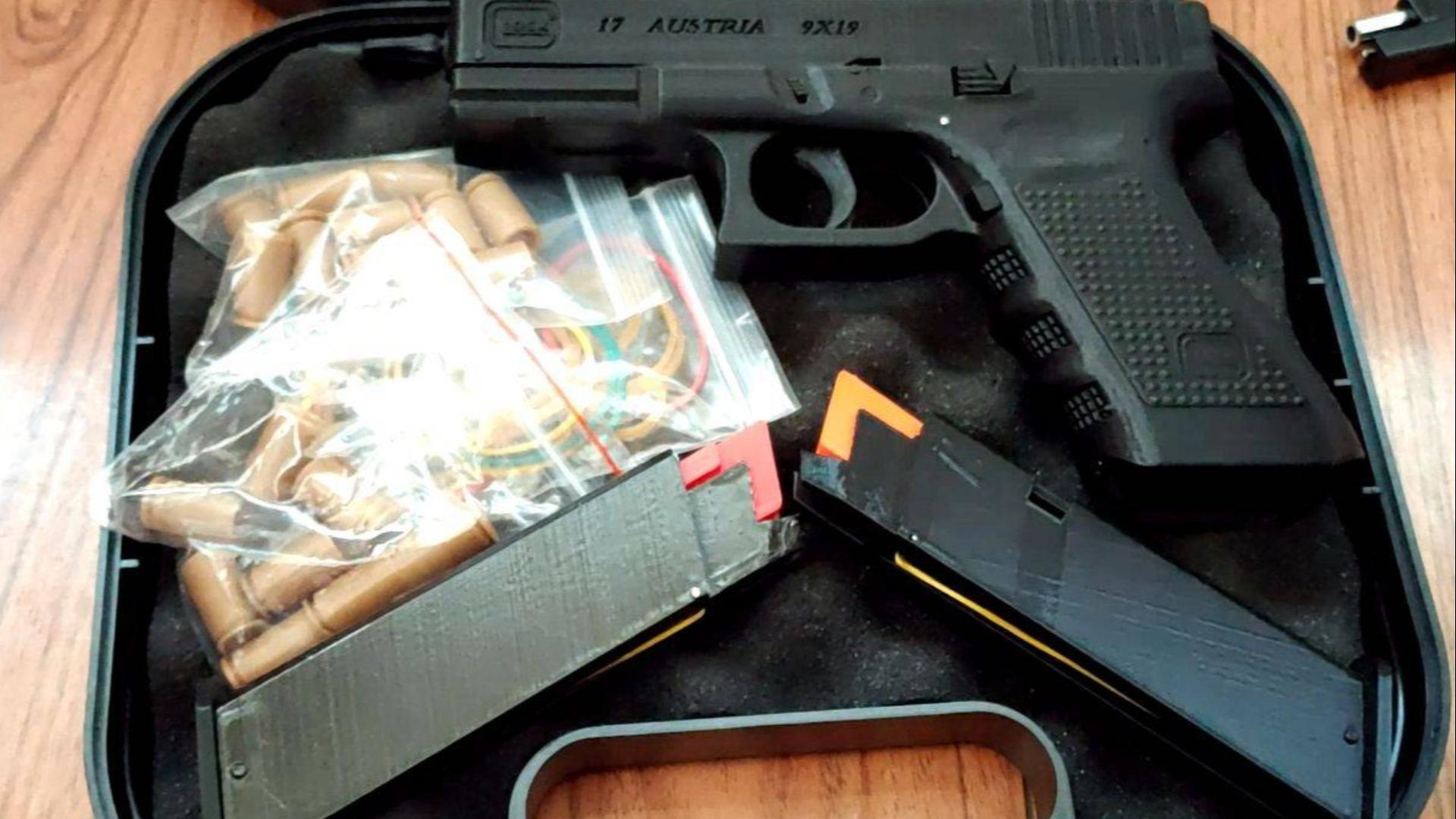 3D打印抛壳格洛克17模型(Glock17)