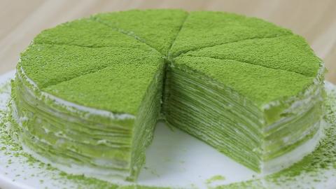 【无烤箱抹茶千层】厨房新手第一次做千层蛋糕会是什么亚子?
