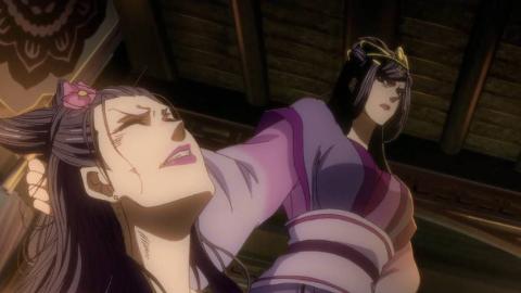 魔道祖师:动漫版vs真人版,虞夫人霸气侧漏,这一段打戏真精彩