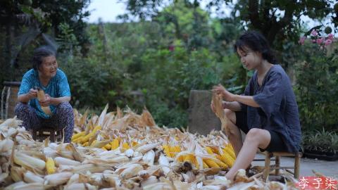 金黄的季节,载满了收获的喜悦和玉米的香甜
