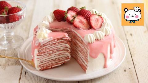HidaMari|草莓千层班戟いちごのミルクレープの作り方