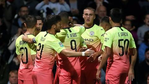 2019-2020赛季英联杯第3轮 普雷斯顿vs曼城 全场集锦