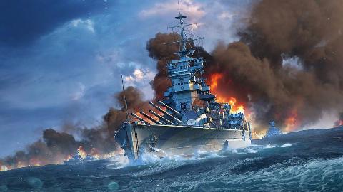 战舰世界:馒头船长英国战列舰征服者气旋肉搏23万伤害
