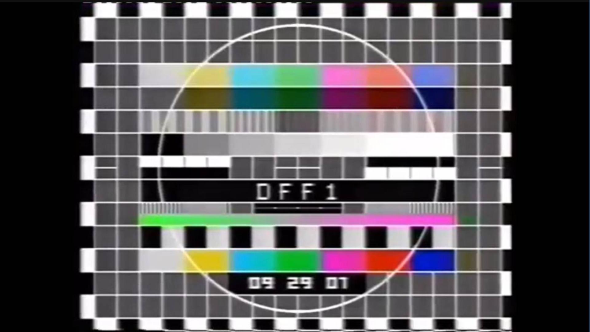 【放送文化】东德电视台第一套节目(DFF1) 测试图&开台 1990.3.23