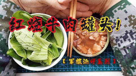 【军粮测评】红烧牛肉罐头开罐测评!卡路里补充巨大![vlog83]