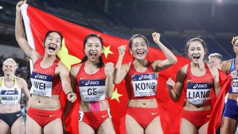 """为中国""""飞人""""点赞!世界接力赛中国田径队接连打破亚洲纪录!"""