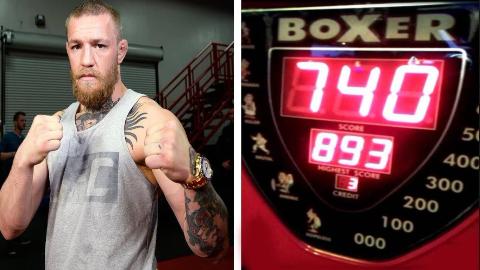 MMA职业选手打力量测试机谁的分最高?白大拿最后一拳笑喷了!
