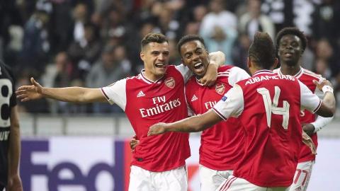 2019-2020赛季欧联小组赛第1轮 法兰克福vs阿森纳 全场集锦