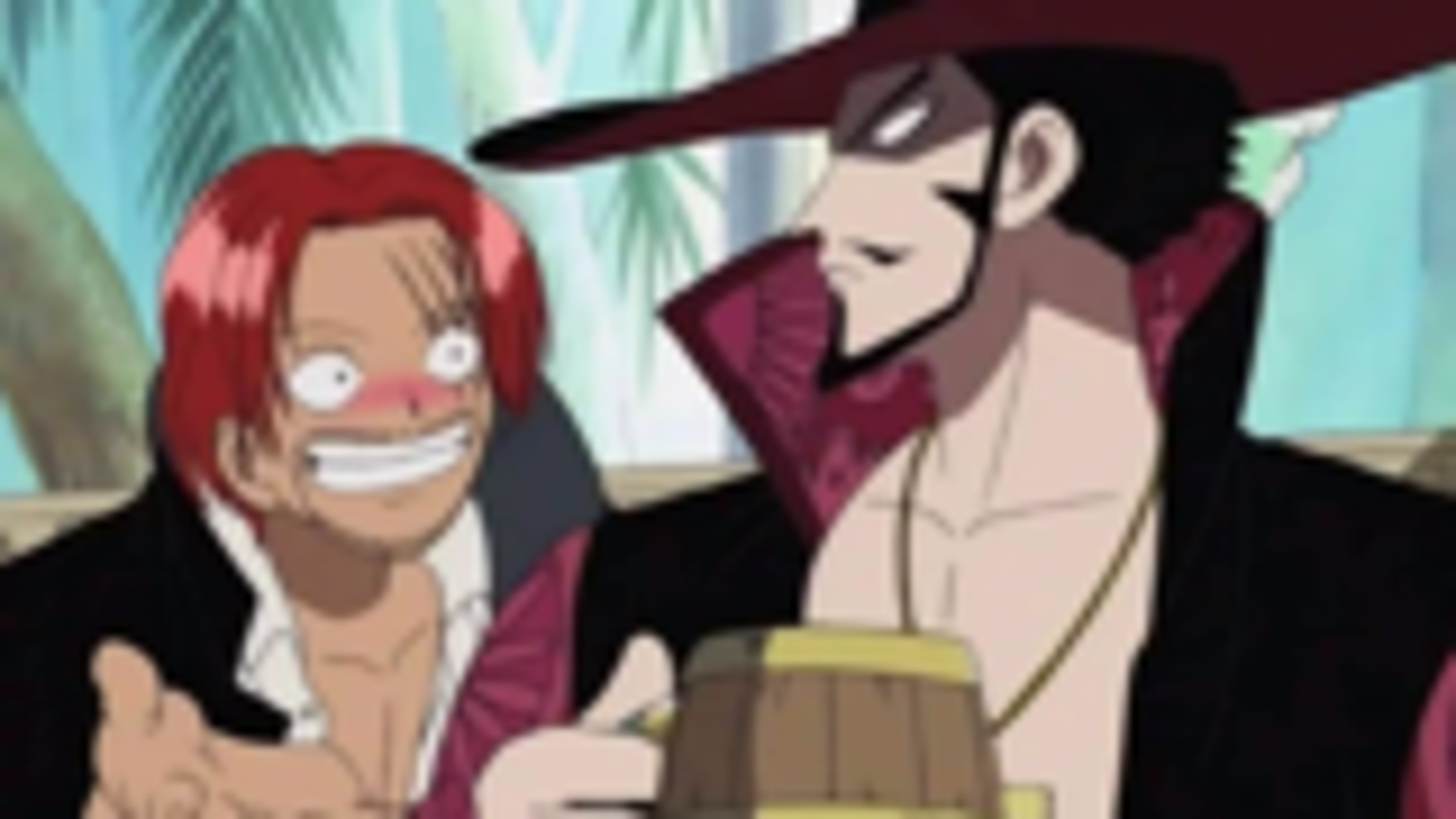海贼王:一个热情一个高冷,红发剑术真胜过鹰眼,鹰眼也不会要第一的称号