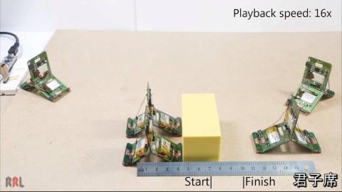 瑞士联邦理工研究出来类似蚁群技能的小型机器人Tribot,颜值和功能都比以前的要强很多