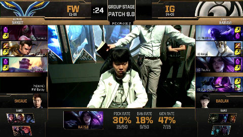 (台湾解说)IG vs FW MSI小组赛 翻盘拿下